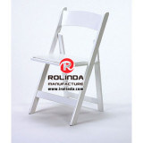 Fertigung White Event Used Resin Foldable Chair auf Sale