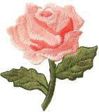 """Fer entièrement déployé simple de Rose (de 2 1/4 pouce """" de 2 1/2 """") de ressort de fleur faite sur commande et seule de jardins sur la connexion brodée d'Applique"""