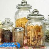 Frasco do armazenamento do vidro de frasco de Retrostyle para a cozinha