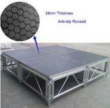 최신 판매 알루미늄 유리제 단계 Portable 단계
