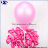 Rosa 10 Zoll Perlen-Farbe Latex Free Samples Balloons