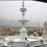 Fonte branca Mf-714 de Carrara da fonte de pedra de mármore do granito