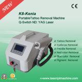 K8赤いAimmingの熱い販売QスイッチND YAGレーザーの入れ墨の取り外し機械