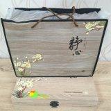 Boîte-cadeau en bois de papier d'art d'emballage de thé de quatre couleurs
