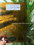 Bernsteinfarbige Flora-gekopiertes Glas mit Cer, ISO (3-8mm)