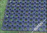 Черные цветы циновки резины нитрила для пола