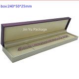 Caixa de empacotamento da jóia Jy-Jb48 de madeira de couro de papel feita sob encomenda da venda por atacado da caixa da caixa de armazenamento da colar do relógio do brinco do anel