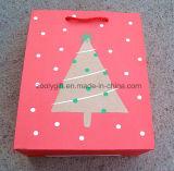 Sac de papier promotionnel de cadeau d'impression d'arbre de Noël