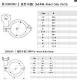 ステンレス鋼クランプTricloverクランプ/Tri-Clamp