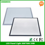 Luzes de painel lisas 600*600 do diodo emissor de luz de RoHS do Ce quente das vendas 54W 90lm/W
