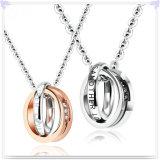 Collier pendant de mode de bijou de mode de bijou d'acier inoxydable (NK728)