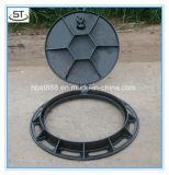 Eisen-Einsteigeloch-Deckel des Soem-Eisen-Gussteil-En124 B125 duktiler