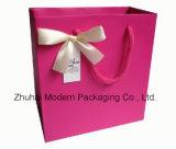 Bolsa de papel rosada del color de la alta calidad