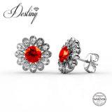 Кристаллы Jewellery судьбы от серег цветка комбинации Swarovski