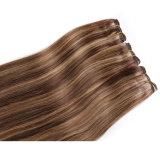 Выдвижение человеческих волос Remy цвета Highlight/Weave цвета рояля белокурое