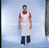 Delantales plásticos blancos disponibles del babero de los delantales del polietileno