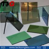vidro reflexivo colorido de 3-8mm para o vidro decorativo
