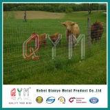 熱い浸された電流を通された牧草地の塀または牛塀か農場の塀