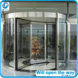 Супер большое вращающаяся дверь с раздвижной дверью в центре