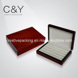 Коробка деревянного Cufflink вишни отделки лоска упаковывая