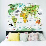 Murales movibles del papel pintado de la correspondencia de mundo del dormitorio del muchacho de la alta calidad caliente de la venta