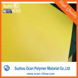 Strato rigido del PVC del Matt colorato colore giallo per l'insegna