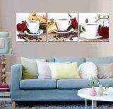 La tela di canapa della decorazione della casa della pittura del caffè della pittura a olio di arte della parete dei 3 comitati stampa le maschere per arte incorniciata salone Mc-259