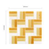 Azulejos de la tabla del mosaico del vidrio de oro y material de construcción para el cuarto de baño