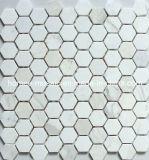 Tuiles de mosaïque de marbre, hexagone (HM12)