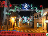 Солнечный свет украшения дороги, свет праздника рождества СИД