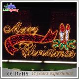 Luz ao ar livre da decoração das letras do Feliz Natal do diodo emissor de luz de Morden grande