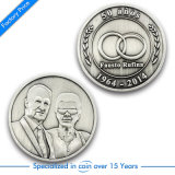 Pièce de monnaie argentée de souvenir en métal 3D de Newst pour les jeux (K1503)