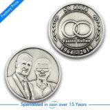 Сувенира металла 3D OEM монетка серебряного старая