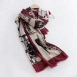 女性は作る印刷されたビスコース絹のスカーフ(YKY1127)を