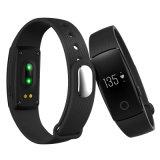 Wristband elegante con Bluetooth y la supervisión del ritmo cardíaco