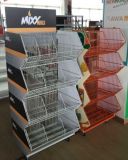 Полно Foldable Wire Stacking Basket с Wheels