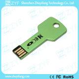 De waterdichte Groene Schijf USB van het Aluminium van het Metaal Zeer belangrijke met Embleem (ZYF1731)