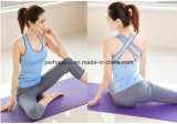 Mulheres Running Sports Vest e Yoga Pants Ladies Fitness Suit
