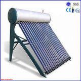 Não calefator de água quente solar Integrated do aço inoxidável da pressão 2016