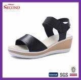 Sandali poco costosi delle signore dell'unità di elaborazione del nero