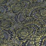 衣類のための金の糸のかぎ針編みのレースファブリック