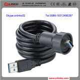 Dust Rubber를 가진 USB DC Power Cable Connector/USB3.0 Reverse Connector