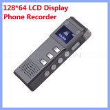 128*64 LCD Display Digital Voice Recorder Phone Recorder Dictaphone mit Built in Loudspeaker