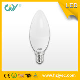lumière de bougie de 6000k 3W E27 E14 C37 DEL avec l'EMC