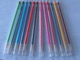 l'usine 12color non-toxique Tordent-vers le haut le crayon