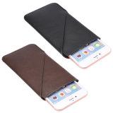 iPhoneのための低下の抵抗のMutifunctionのカードスロットの革製バッグの箱