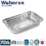 Фольги еды быстро-приготовленное питания контейнеры алюминиевой Takeaway/тарелки фольги олова