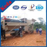 Planta de lavagem do Trommel móvel do ouro/tela móvel resistente 100t/H do Trommel