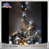 la lumière de vacances de 100m DEL on colorent la lumière de chaîne de caractères de décoration de Noël de DEL
