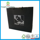 Saco de papel preto personalizado para a compra